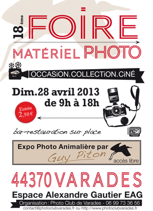 44 - Varades • 18ème Foire Matériel Photo - Ciné - Image