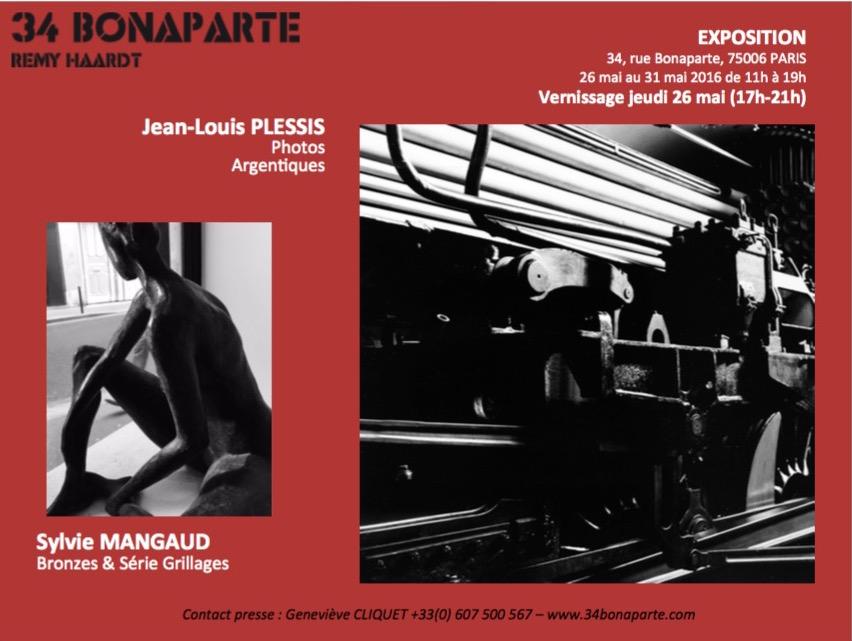 75 - Paris • Exposition de Jean-Louis-Plessis et Sylvie Mangaud (34 Bonaparte)
