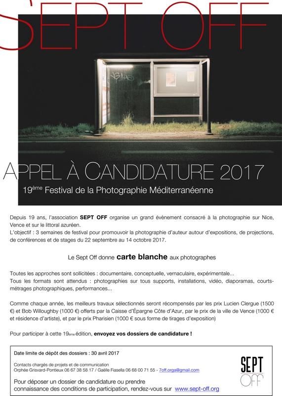 Appel à candidatures • Sept Off 2017