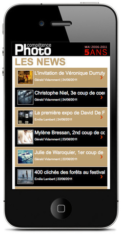 Compétence Photo disponible sur mobile et iPhone