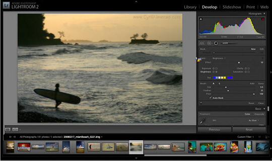 La version 2.3 de Lightroom est disponible