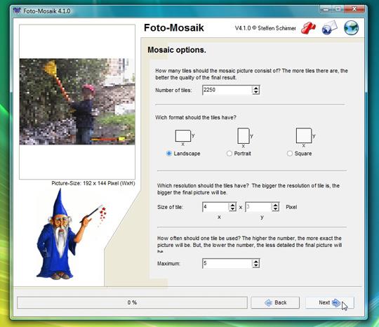 Téléchargez Foto-Mosaik pour créer une photo à partir de centaines d'autres