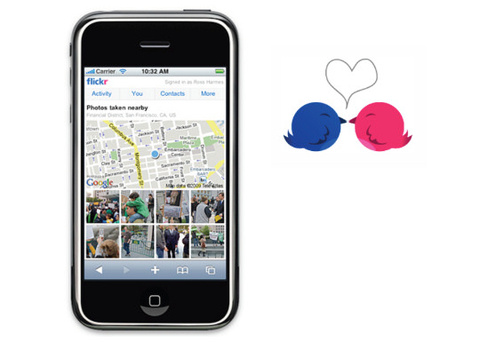 Explorer en images les environs depuis votre téléphone mobile, Tweetez vos photos…