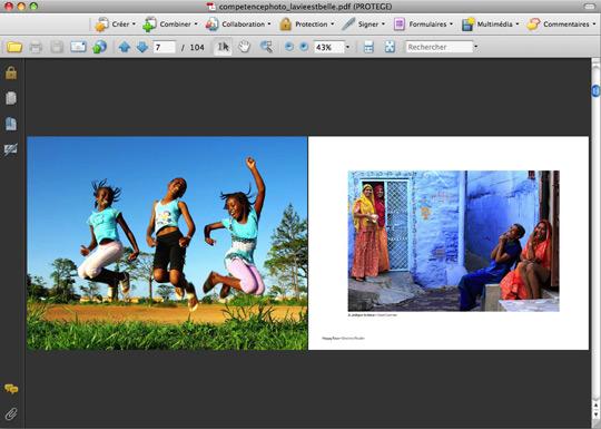 Affichage en double page sous Acrobat