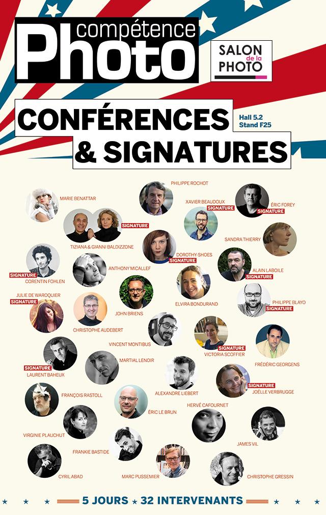 Programme complet des conférences 2017 de Compétence Photo