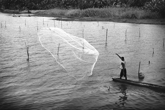 Pêche à l'épervier • Jean-Marie Gérard