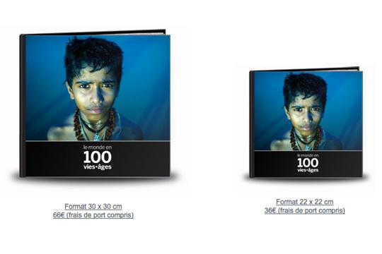 Le livre 'Le Monde en 100 vies•âges' est en vente