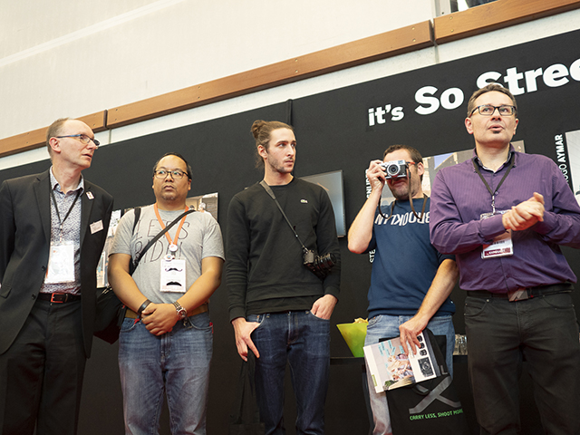 De gauche à droite : Franck Portelance, Thomy Keat, Hugo Aymar, Yannis Bautrait et Gérald Vidamment