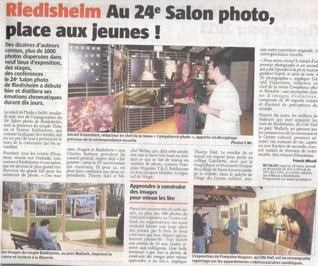 L'Alsace du dimanche 13 mars 2011.