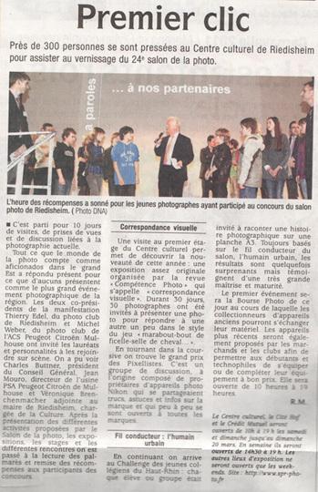 Les Dernières Nouvelles D'Alsace (DNA) du dimanche 13 mars 2011.