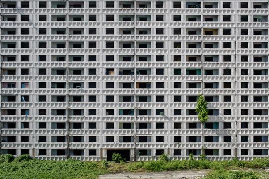Immeuble désaffecté en plein centre de Kuala Lumpur, Malaisie.