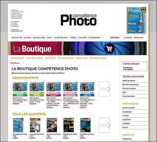 Une nouvelle boutique en ligne pour Compétence Photo
