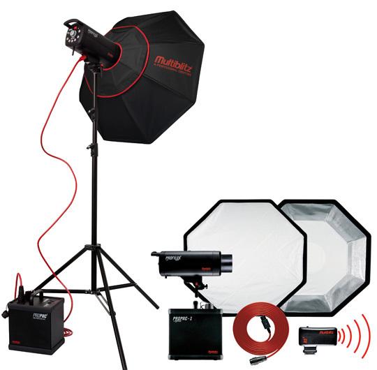Le Kit Pro Multiblitz pour studio ou extérieur