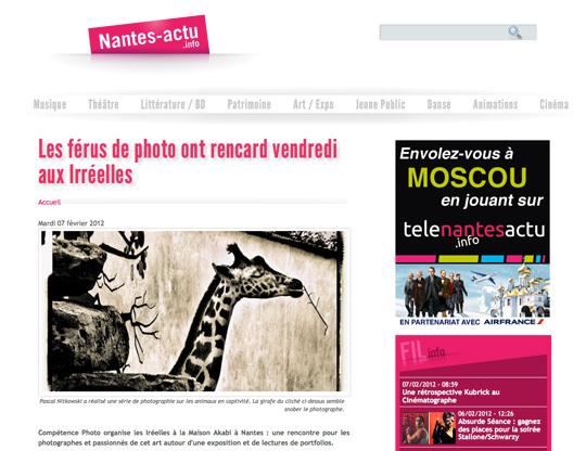Interview de Cath. An. et Pascal Nitkowski dans Nantes Actu
