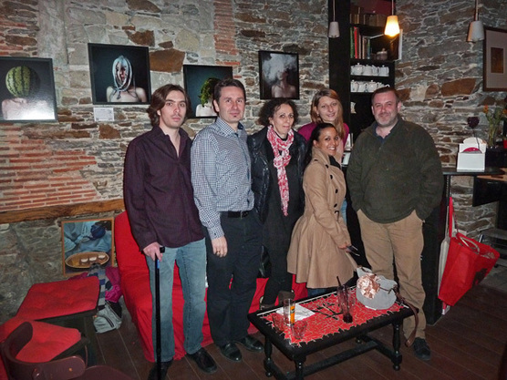 De gauche à droite : Alexandre Parrot, Gérald Vidamment, Emmanuelle Brisson, Cath. An., Maria Alberola et Pascal Nitkowski. © Coralie Masson