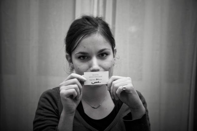 Julie de Waroquier and the label n°200.