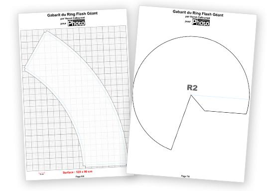 Téléchargez le gabarit pour fabriquer un ring flash géant de 1,8 m de diamètre