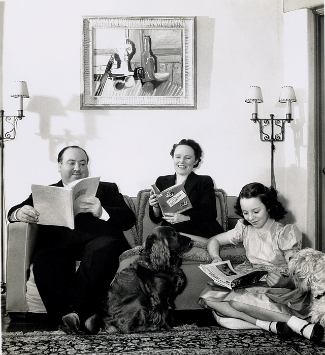 La famille Hitchcock à la maison à Bel Air. © BFI National Archive/Special Collections