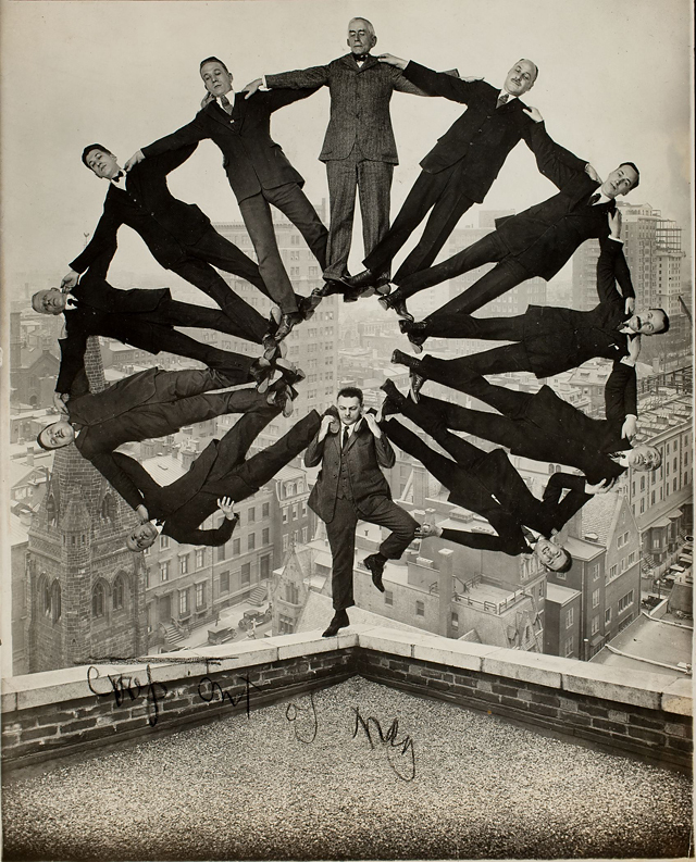 Faking It: Manipulated Photography before Photoshop by Mia Fineman (Metropolitan Museum of Art) - 1.	Man on Rooftop with Eleven Men_Unidentified American artist