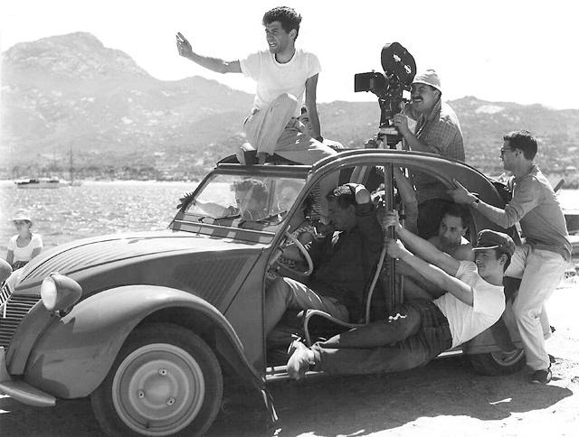 1960, tournage en Corse du film Adieu Philippine de Jacques Rozier © Raymond Cauchetier
