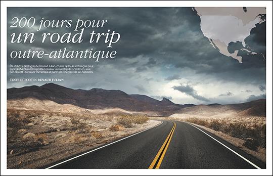 200 jours pour un road trip outre-Atlantique, par Renaud Julian (publié dans Compétence Photo Voyage)