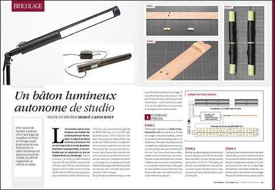 Fabriquer un bâton lumineux autonome de studio