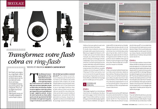 Transformez votre flash cobra en ring-flash