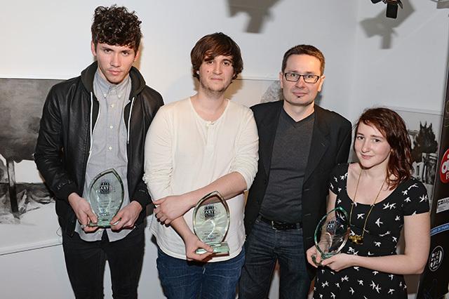 De gauche à droite : Christopher Hart, William Farges, Gérald Vidamment et Jeanne Ménétrier © Pascal Baril - Planète Bleue Images