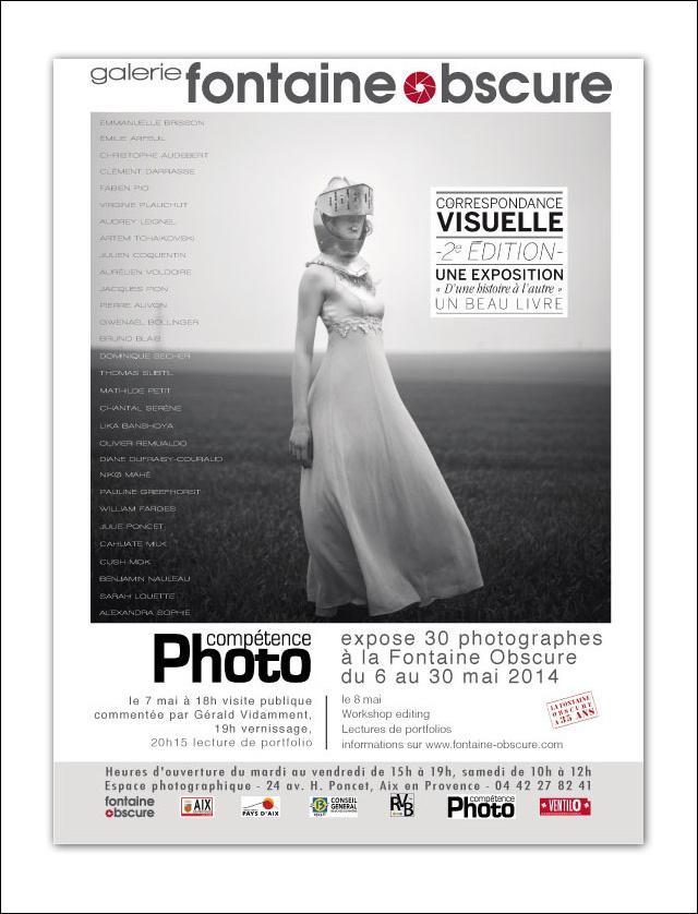 La Correspondance Visuelle 2e édition exposée à la galerie La Fontaine Obscure (Aix-en-Provence)