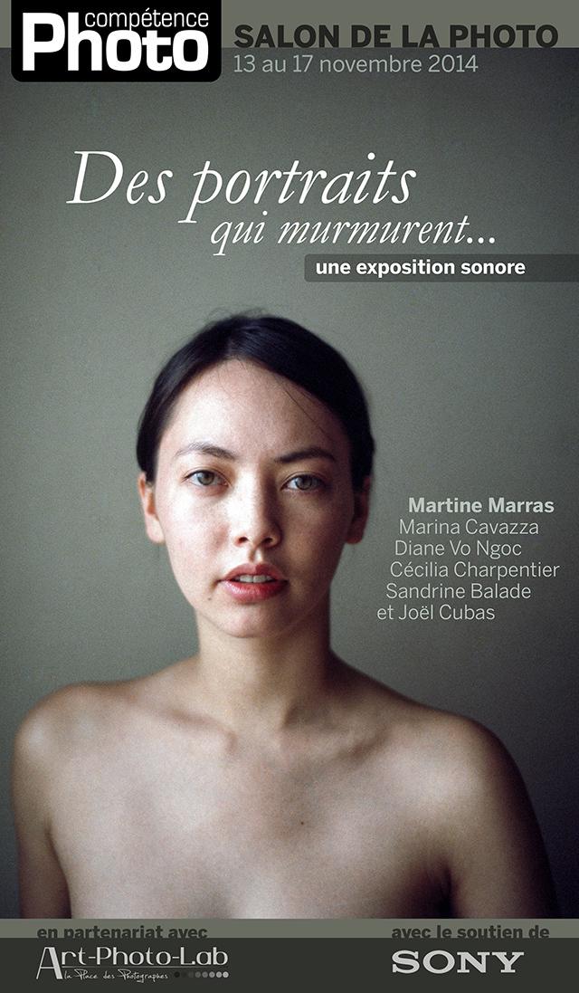 """La série """"Nue"""" de Martine Marras exposée sur le stand de Compétence Photo"""