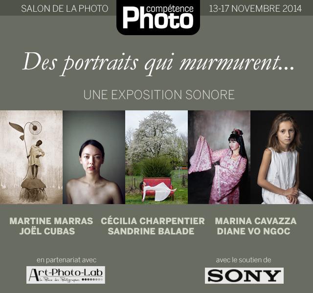 """L'exposition sonore """"Des portraits qui murmurent..."""" au Salon de la Photo 2014"""