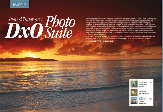 """Téléchargez les photos du dossier """"Bien débuter avec DxO Photo Suite"""" (guide pratique) - Compétence Photo n°45"""