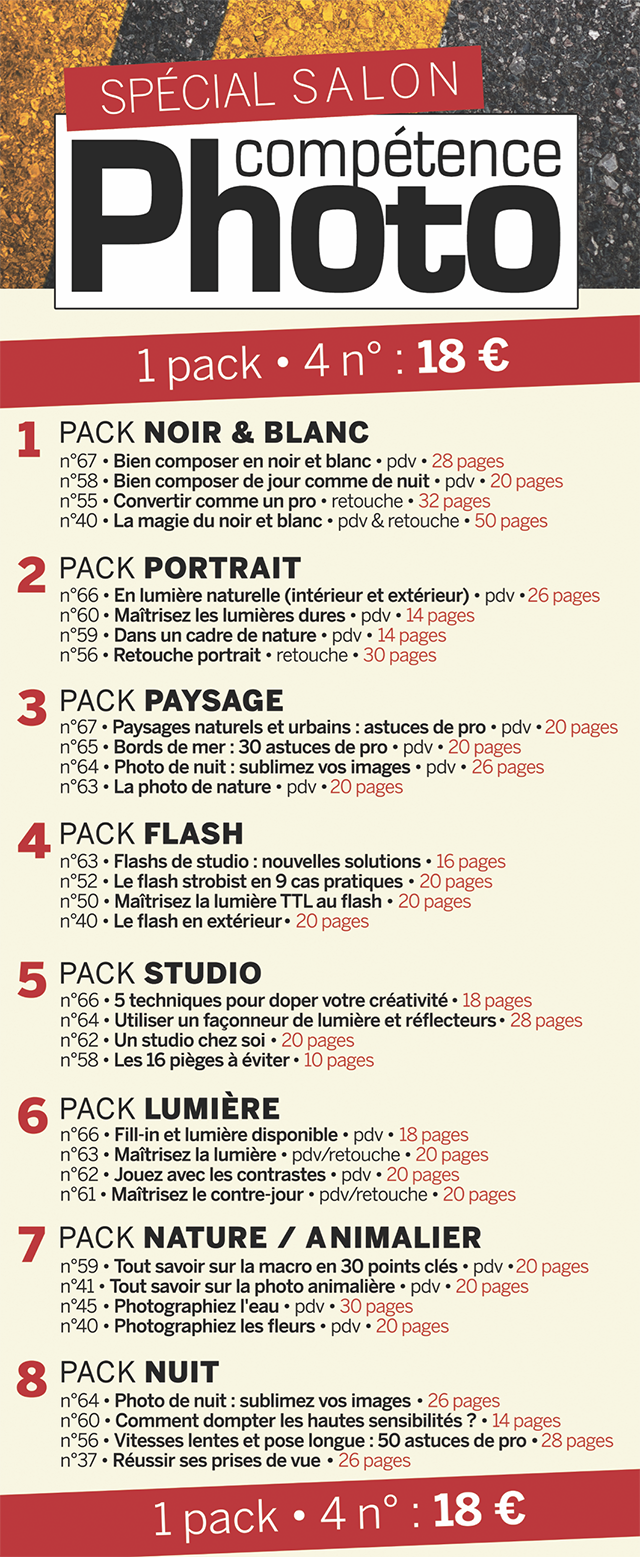 Offre Salon de la Photo : découvrez nos packs thématiques