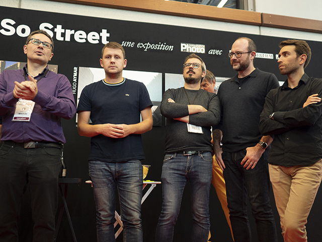 Da gauche à droite : Gérald Vidamment, Cédric Roux, Laurent Lavergne, Philippe Blayo et Frankie Bastide