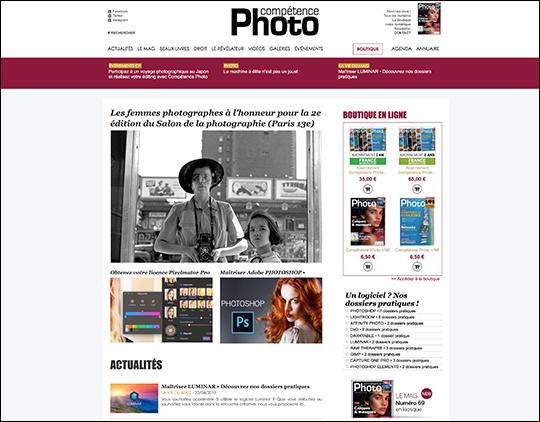 Un nouveau design pour le site web de Compétence Photo