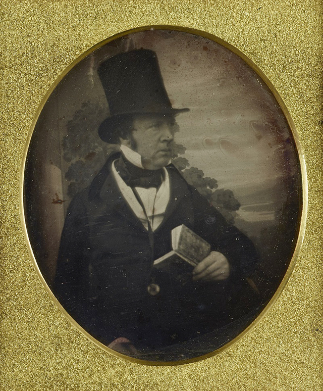 Antoine François Jean Claudet – daguerreotype, portrait de William Henry Fox Talbot - c. 1841-1845 © British Library Board