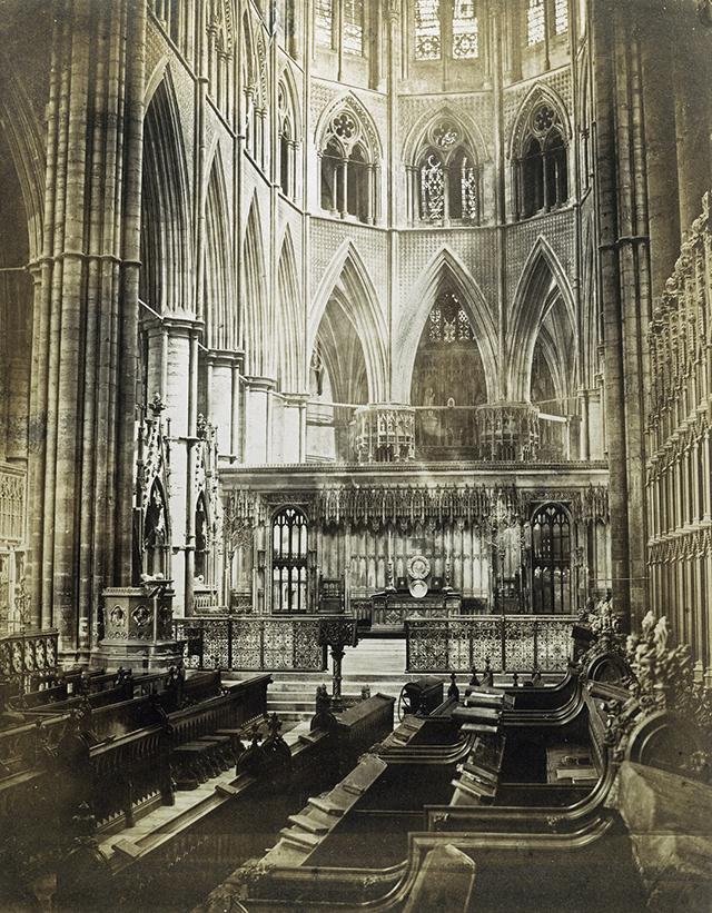 Victor Albert Prout – L'intérieur de l'abbaye de Westminster, avant 1860 - Historic England Archive