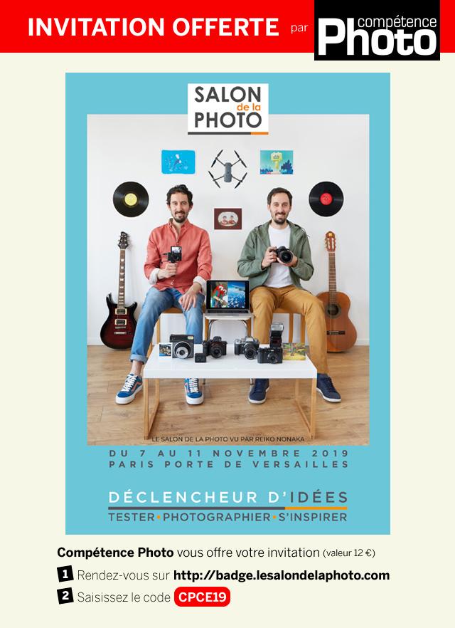 Compétence Photo vous offre votre invitation pour le Salon de la Photo 2019
