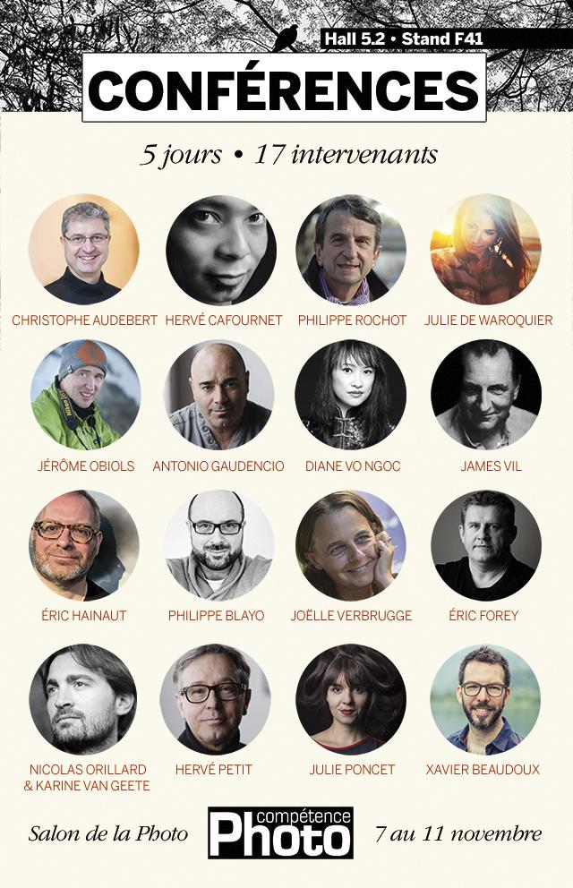 Programme complet des conférences 2019 de Compétence Photo