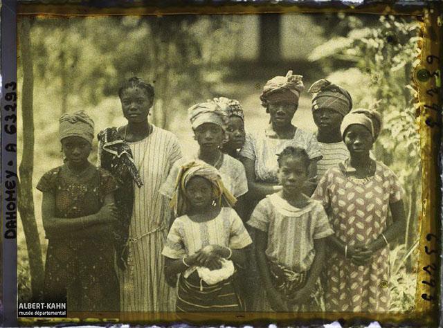 n° d'inventaire A63293, Collection Archives de la Planète - Musée Albert-Kahn/Département des Hauts-de-Seine - Dahomey, Porto-Novo, Types de fillettes de Porto Novo, 1930