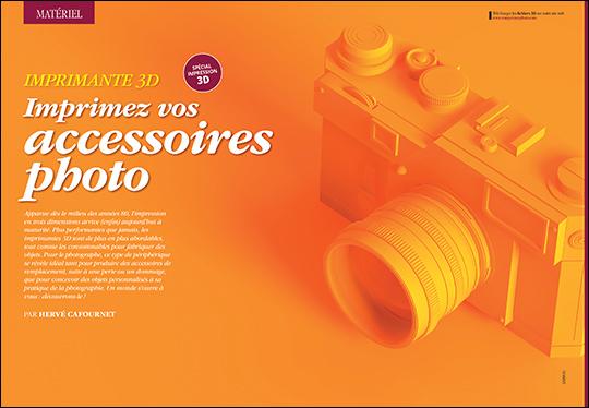"""Téléchargez les fichiers 3D du dossier """"Imprimez vos accessoires photo"""" du Compétence Photo n°82"""