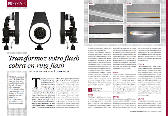 Transformez votre flash cobra en ring-flash