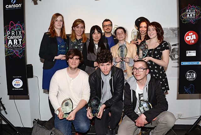 Les dix lauréats de la 4e édition du Prix Canson Art School © Pascal Baril - Planète Bleue Images