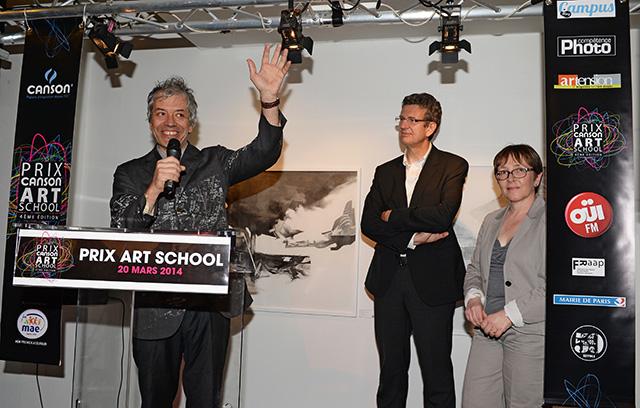 Gaspard Delanoë, Président de l'association 59Rivoli, Eric Joan et Catherine Barthe © Pascal Baril - Planète Bleue Images