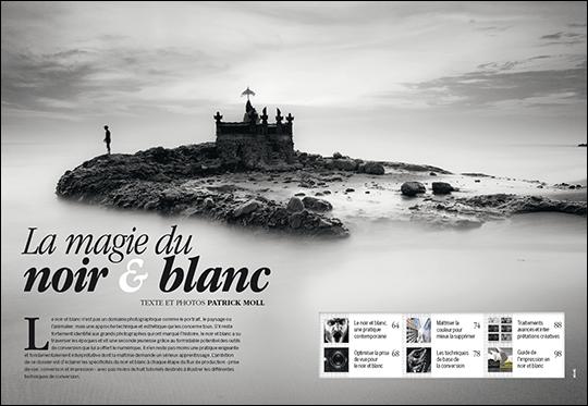 """Le dossier """"La magie du noir et blanc"""", publié dans Compétence Photo n°40"""