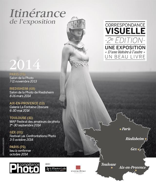 Itinérance de l'exposition La Correspondance Visuelle (agenda 2014)