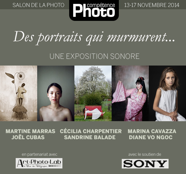 "L'exposition sonore ""Des portraits qui murmurent..."" au Salon de la Photo 2014"