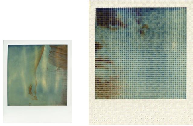 Nicolas Poizot, Source/Mosaïque, tirages de polaroïds polarisés et scannés, 2014