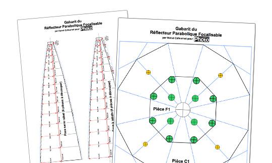 Comment fabriquer un réflecteur parabolique focalisable ?