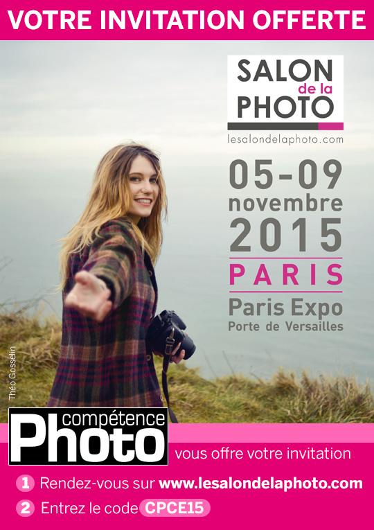 Compétence Photo vous offre votre invitation pour le Salon de la Photo 2015
